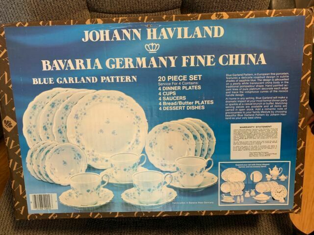 4 Dinner Plates Johann Haviland Blue Garland