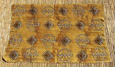 "African Bamana Bambara Authentic Handwoven mud cloth Textile from Mali 43"" x 65"""