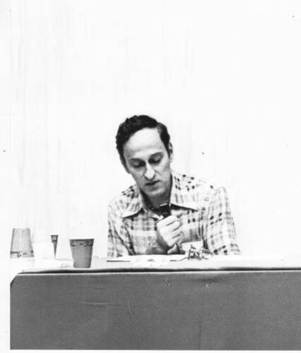 ROGER ZELAZNY 8 x 10 photo from the 1977 World Science Fiction convention