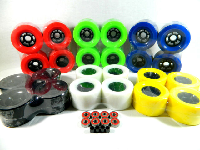 Blank Pro 90mm Multiple Color Longboard Flywheels + ABEC 7 Bearings + Spacers