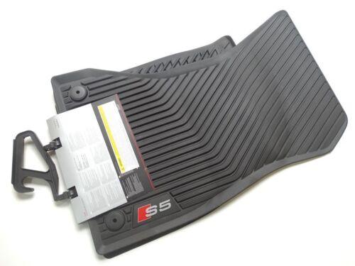 8W7061221A 041 Original Audi S5 Rubber Mats Rubber Floor Mats Front Black