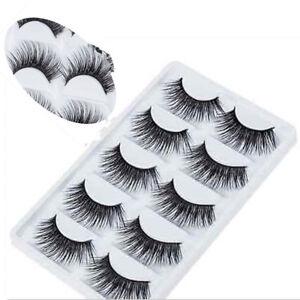 Hot5Pair-Soft-Makeup-False-Eyelashes-Long-Thick-Natural-Eye-Lashes-Extension-US