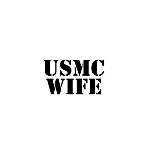 USMC Wife US Marines Die Cut Vehicle Decal Window Sticker 2429