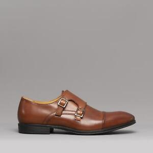 Steptronic Mens Strap Shoes Cognac Fresno Dress Details Monk Formal Leather Smart About w8nZNkPX0O
