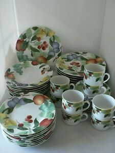 "STUDIO NOVA ""ORCHARD JEWELS"" FINE CHINA SET OF 8, - 1 DINNER PLATE, GREAT COND"