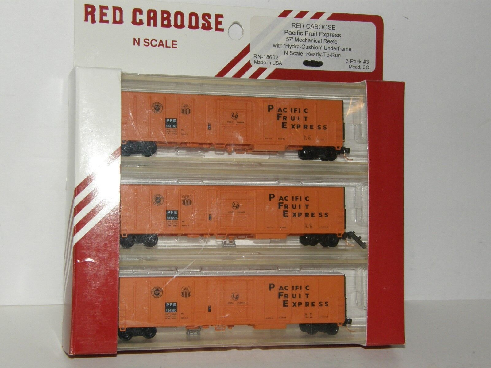 N Scale RED CABOOSE RN18602  Pacific Fruit Express 57' Mechanical Reefer