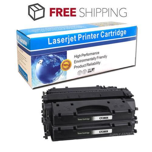 2PK High Yield CF280X 80X Black Toner For HP LaserJet Pro 400 M401dn M425dn MFP