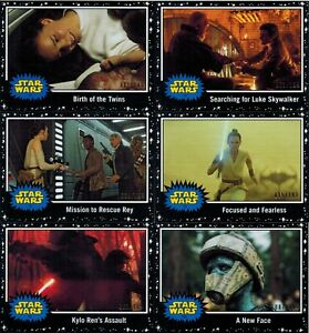 Journey-to-STAR-WARS-The-Rise-of-Skywalker-Lot-6-Cards-Black-Parallel-Cards