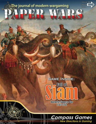 Compass Games Paper Wars #94 Includes Fall Of Siam NISW