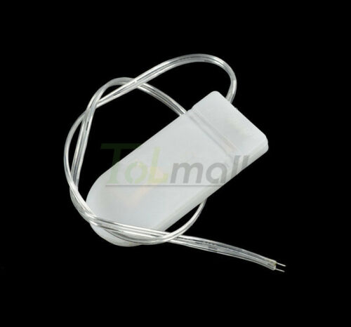 5Pcs Case Box Battery Holder CR2032 Button Coin Cell ON//OFF Switch White//Black