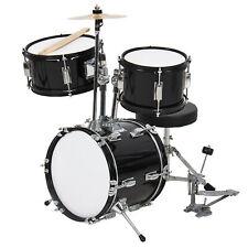 BCP 3-Piece Kids Beginner Drum Musical Instrument Set w/ Sticks, Stool, Pedal