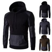 Fashion Men Gym Hoody Hoodie Hooded Sweatshirt Tops Long Sleeve Casual Coat Tops