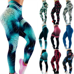 3D-Women-Ruching-Push-Up-Leggings-Yoga-Apparel-Anti-Cellulite-Trousers-Pants-HOT
