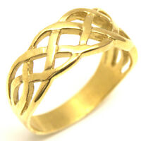 Celtic Ring 9ct Gold Ce19