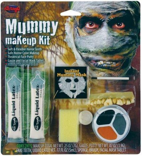 New Adult Mummy Makeup Kit Face Paint Fancy Dress Halloween Horror Dead Egyptian