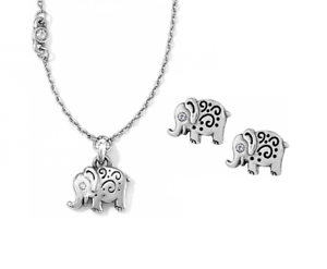 Elephant Necklace And Earrings Costume Jewellery Jewellery & Watches