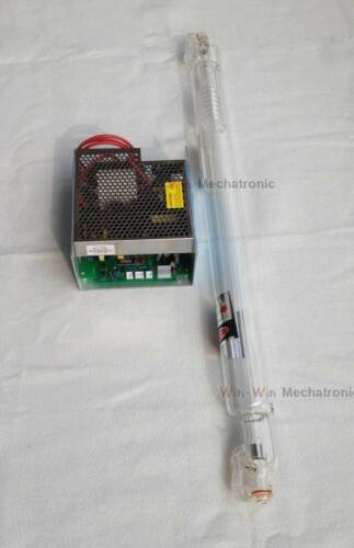 Laser Tube for CO2 Laser Engraving Cutting Machine 110V T1 40W Power Supply
