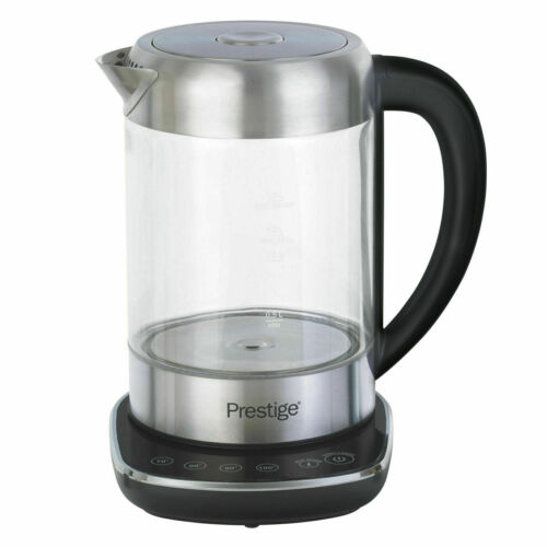 Prestige 2 in 1 Tea and Water Glass Kettle With Digital Base