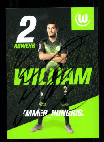 William   Autogrammkarte VFL Wolfsburg 2019-20  Original Signiert