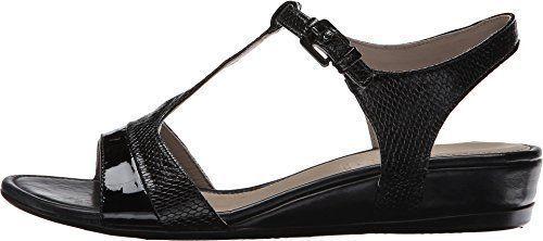 Nuevo ECCO Touch 25 Cuero Sandalia de cuña T-Strap Negro Negro Negro Patente mujer talla 41 10  mas barato