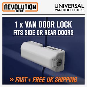 Universal Van Door Dead Lock White Single Fits Rear or Side Doors Van Security