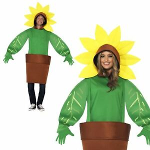 Adults-Mens-Ladies-Sunflower-Flower-Show-Plant-Pot-Novelty-Fancy-Dress-Costume