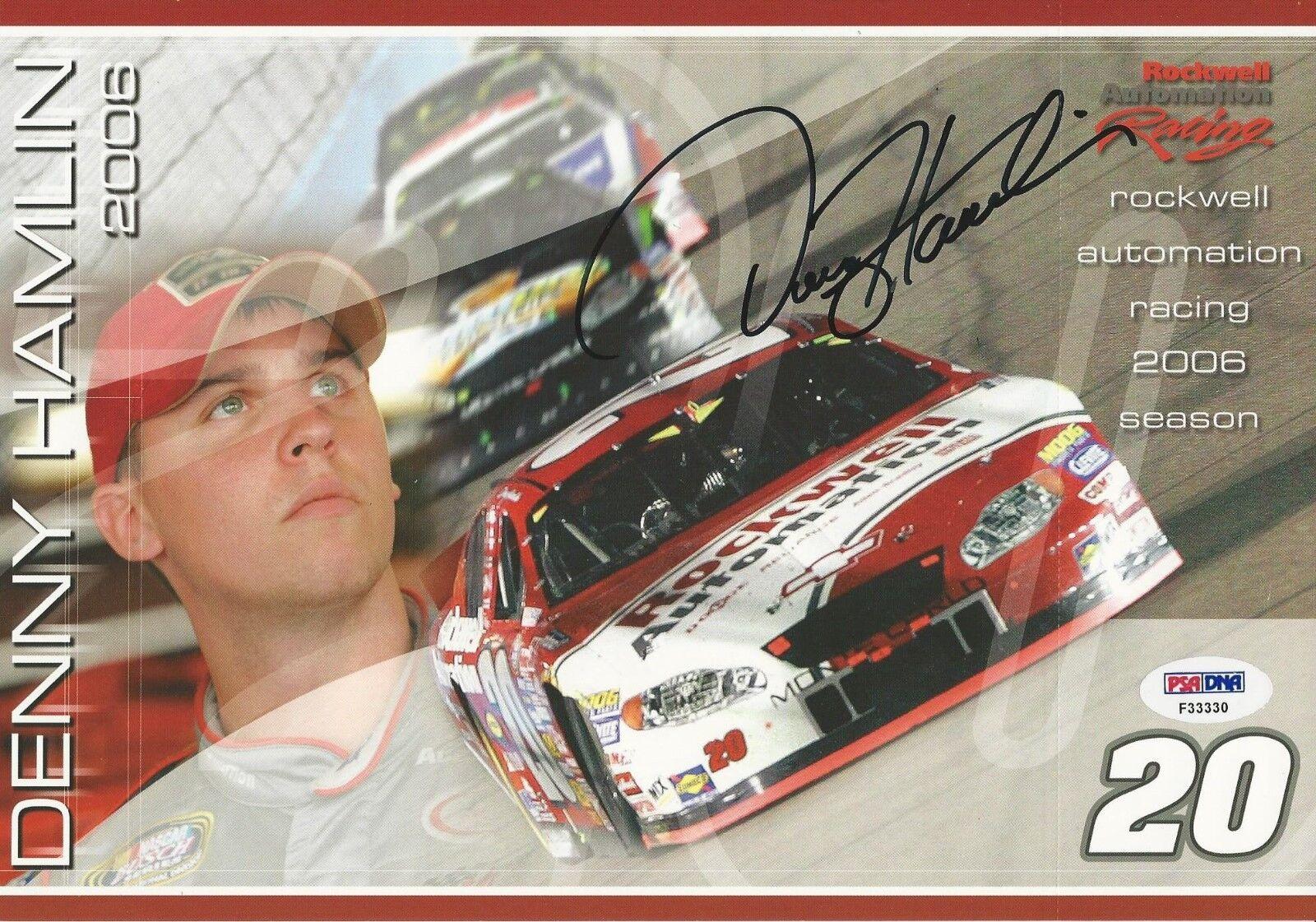 Denny Hamlin.signed 8x10 PSA/DNA Cert # F33330