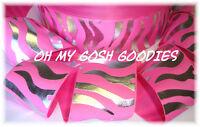 2 1/4 Zebra Princess Hot Pink Silver Cheer Grosgrain Ribbon 4 Hairbow Bow 5yd