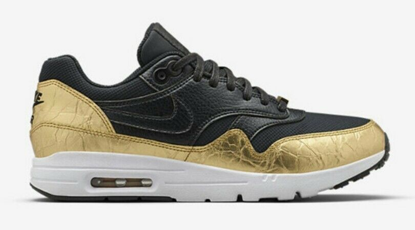 Nike air max 1 ultra sonodiventate superbowl 50 donne '9' oro nero 839475-081new