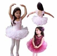 New baby Girls Kids Leotard Toddler  Party Costume Ballet Tutu Dance Dress 3-8Y