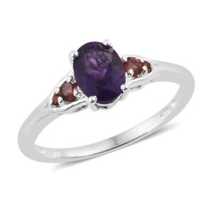 925-Sterling-Silver-Oval-Amethyst-Garnet-Promise-Ring-Jewelry-Cttw-1-3