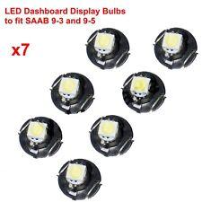 LED bianco Lampadine Di Ricambio adatta a SAAB 9-3 93,9-5 95,SID+ACC clima