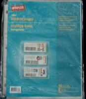 Staples Clear Coupon Pages - Brand Package Of 10 - Hold Clipped Coupons