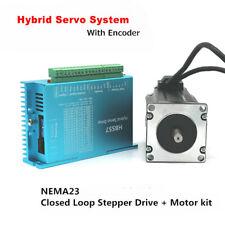 3nm Nema23 Closed Loop Stepper Motor Hybrid Servo Driver Control System 428oz In
