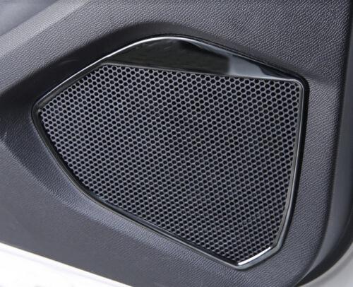 Schwarz Innentür-Hupen Abdeckungskreise 4 Stück für Peugeot 3008 GT 2016-2019
