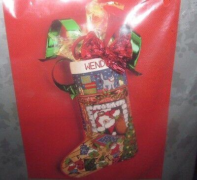 """Candamar Needlepoint Stocking Kit Santa And Elves Christmas 17"""" 30671 Sealed"""