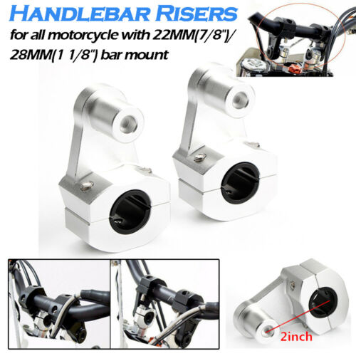 Universal Motorcycle HandleBar Handle Fat Bar Mount Clamp Riser 22//28mm US Moto