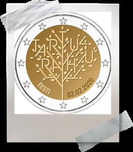 2-EURO-Estonie-2020-Estland-100-jaar-ans-Traite-Tartu-vredesverdrag