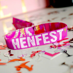 Image Is Loading Henfest Hen Party Wristbands Do Bracelets Festival