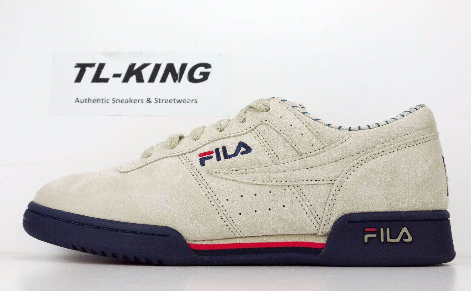 Fila Original Fitness PS Cream Navy Red Beige bluee Pinstrip 1VF80127-922  70 AD