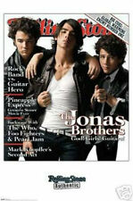"THE JONAS BROTHERS ROLLING STONE COVER POSTER GOD! GIRLS! GUITARS! 24""X 36""-NEW"