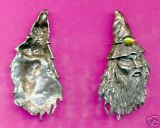 lead free pewter wizard double ring pendant 3043