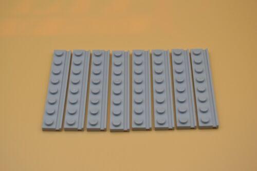 Führung Nut neuhell grau  newlight grey rail 4510 LEGO 8 x Platten 1x8 m