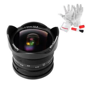 7artisans 7.5mm f 2.8 APS-C Fisheye lente per Canon EOS M Mount fissata