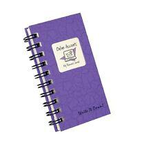 Internet Website Username Password Mini Online Book Email Address Purple Journal