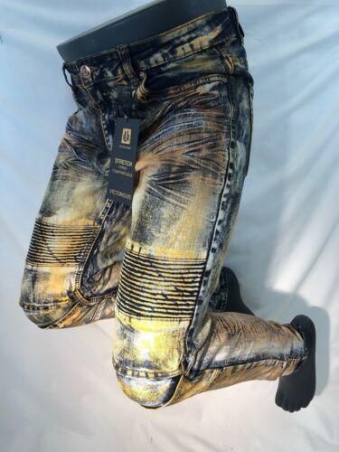 Skinny Biker Cuivre Acide Denim Bleu Leg Rock Fit Jeans Lavage 1196 Victorious 5qz4w7B
