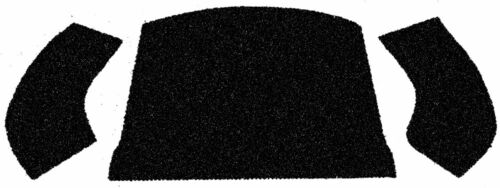 EMPI 3997 56-72 VW BUG /& SUPER CONVERTIBLE REAR WELL CARPET KIT BLACK 3 PIECE