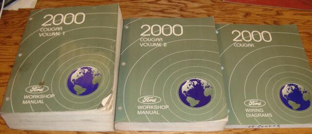 Original 2000 Mercury Cougar Shop Service Manual Vol 1 2