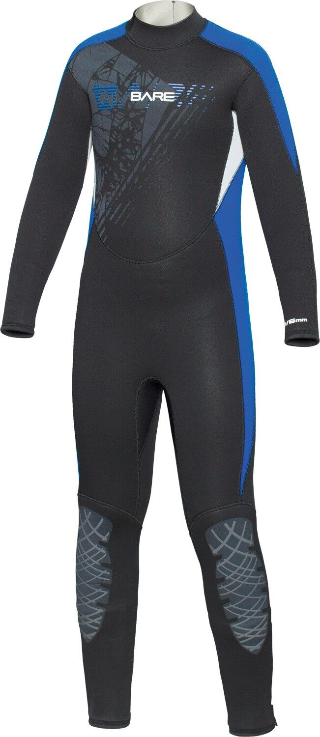 Bare Youth Kids Manta 7 6mm WetSuit Full Sun Guard Swim All Size 6-16 blueee