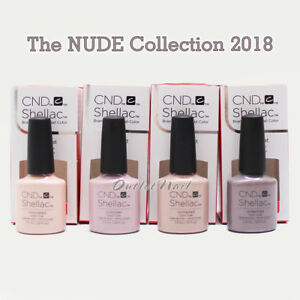 Set 4 Colors Cnd Shellac Uv Gel Polish The Nude Collection 2018 7 3